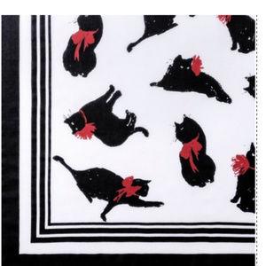 Milu Print Cat Scarf 42x42